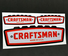 1960's CRAFTSMAN TOOLS x 3 Vintage Style DECAL, 6