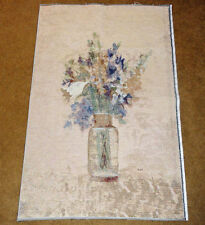 Cheri Blum Cut Flowers Crafters Unfinished Tapestry Wall Hanging Fabric Remnant