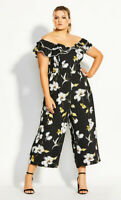 New with Tags CITY CHIC Crepe Floral Jumpsuit - size 16 - size S - RRP $179.95