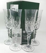 Galway Irish Crystal Champagne Flutes Set Of 4 Glasses