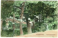 Postcard 1906 Germany early coloured Wiesbaden