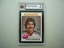 1975/76 O-PEE-CHEE NHL HOCKEY CARD #73 DEREK SANDERSON KSA 8 NM/MT 75/76 OPC