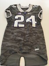 Game Worn Used Nike TCU Horned Frogs Football Jersey #24 Size 40 Frogskin