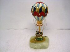 1987 RON LEE Signed Hot Air Balloon 24k Gold Accented Heavy Figurine-AMAZING!!!