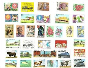 34 MINT POST AGE STAMPS FROM THE BRITISH COLONIES lot 2
