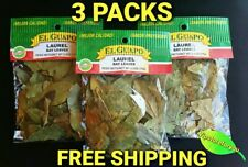 3 Pack El Guapo HOJAS DE LAUREL 0.5oz each- 14g c/u Bay Leaves FREE SHIPPING