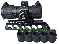 Tactical Scope Mount + UTG 38mm QD Green Red Dot Sight For Remington 870 Shotgun