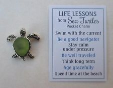 bb Green LIFE LESSONS FROM SEA TURTLE pocket token charm ganz think long term