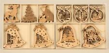 Fensterbilder Holzanhänger verschiedene Motive Baumschmuck Weihnachten