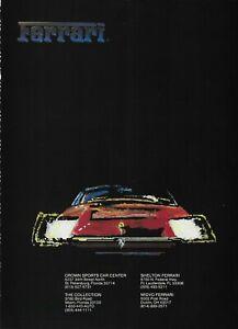 1986 Red Ferrari Painting Auto Car Original Vintage Color Poster Print Ad
