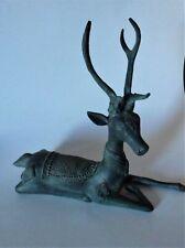 Bronze Reclining Deer Cast Sculpture from South Asia