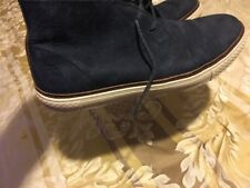 Mens Blue Suede Leather Frye Ankle Boots Sz 11