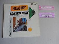 no vinyl COUNT BASIE basie's way broadway  1 PICTURE SLEEVE + 2 JUKEBOX STRIPs