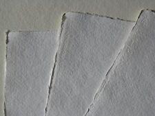 handgeschöpftes Aquarellpapier A2- Büttenpapier 200g/m² 10 Bogen naturweiß Baumw