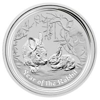 2011 Year of the Rabbit 1oz .999 Silver Bullion Coin - Lunar Series II - PM