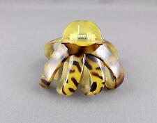 Brown octopus hair clip big spider barrette plastic claw clamp cheetah leopard
