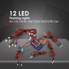 12 LED Flashing Bright Light Lamps for 1/10 1/8 RC HSP CC01 SCX10 RC Car AZ