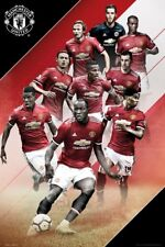 MANCHESTER UNITED - PLAYERS COLLAGE 2018 POSTER 24x36 - FC SOCCER FOOTBALL 34302
