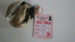 BELL CERAMICS Vintage doll wig TIFFANY Blonde size 9-10 - NEW OLD STOCK (NOS)