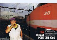 COUPURE DE PRESSE CLIPPING 1986 GEO : SNCF  TGV départ pour l'an 2000 (20 pages)