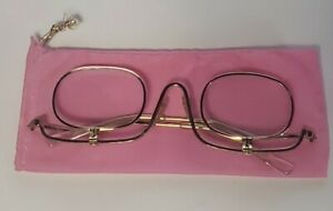 Vintage Gold Tone Flip Down Reading Eye Glasses