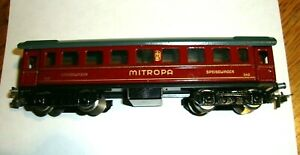 MARKLIN HO   342 .6  DINING CAR   TIN PLATE   1946   BK 4.1 WIDE LOOP COUPLERS