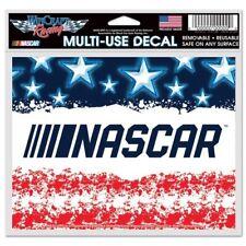 "NASCAR Logo 4"" x 5"" Multi Use Decal Window, Car or Laptop Die Flag Stars Stripes"