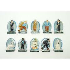 RARE MINIATURE FIGURINES,THE ADVENTURES OF TINTIN GOLD TRIM COLLECTION *2012*