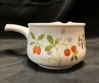 """Rare Noritake Progression China """"Berries N Such"""" Gravy Boat With Handle"""