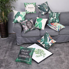 Fashion Digital Print Tropical Plant Cushion Covers Pillow Case Home Sofa Decor