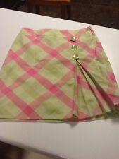 Anne Taylor Loft skirt size 4 NWT pink green plaid