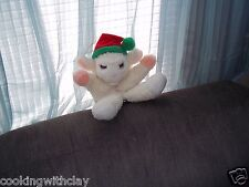 LAMBCHOP PLUSH HAND PUPPET COLLECTIBLE SHARI LEWIS AVON CHRISTMAS HAT