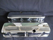 VALVE COVERS CHROME 3 5/8 INCH TALL STEEL BIG BLOCK CHEVROLET NOT CHINA MADE