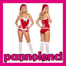 Costume carnevale BABBA Babbo NATALE donna lingerie corsetto dl-453