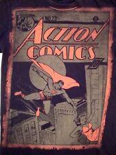 Superman Action DC Comics Superhero Super Hero Retro Magazine Cover T Shirt M