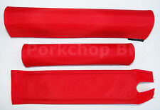 FLITE old school BMX bicycle padset foam racing pads RED BLANKS (WHITE FOAM)