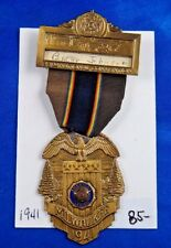 1941 US American Legion 23rd National Convention Milwaukee Badge Medal Ribbon