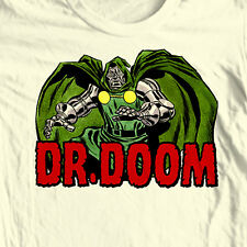 Dr Doom T-shirt retro Bronze Age Comics super hero 100% cotton graphic tee