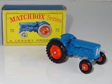 (W) matchbox lesney FORDSON TRACTOR - rare orange hubs front and back