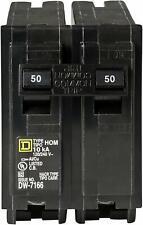 Square D 50 Amp 2-Pole Circuit Breaker Homeline Standard Trip Residential