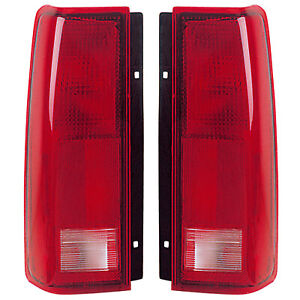 Tail Lights Rear Lamps Pair Set for 85-04 Chevy Astro/GMC Safari Left & Right