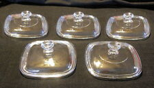 5 NEW Petite GLASS REPLACEMENT LIDS for Corning Ware Pyrex P-41 & P-43 Dish MINT