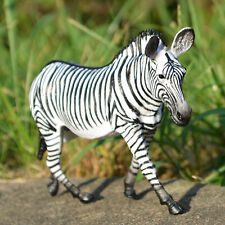 PVC Zebra Kids Toy Figurine Educational Model Realistic Wild Animal Figure