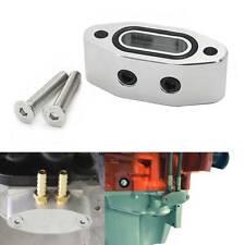 Oil Port Adapter For Chevrolet LS LS1 LSX LS2 LS3 LQ4 LQ9 LM7 GMC 5.3 6.0 Sliver