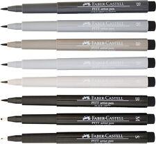 Faber-Castell Pitt Artist Pens - 8 Pens - Manga - Black & Grey India Ink