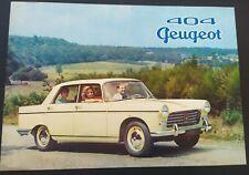 Brochure auto'  Peugeot 404 (4 pages)