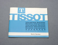 New old stock TISSOT international warranty booklet 1973 blank NOS light blue