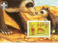 Endangered Animals on Stamps -  Stamp Souvenir Sheet  - 8507s1
