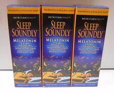 Sleep Soundly Melatonin Fast Acting Liquid 2oz -3 Pack