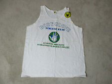 NEW VINTAGE Body Glove Tank Top Shirt Adult Extra Large White Blue Surfer 90s